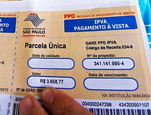 boleto IPVA falso